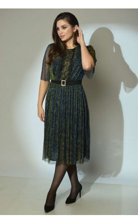 Платье Angelina 610 золотисто-синий