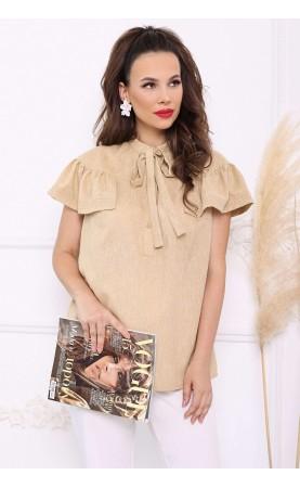 Блуза Мода Юрс 2680 беж лен